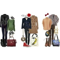 doctor who outfits   Doctor Who - Outfits for the 9th Doctor, 10th Doctor, and 11th Doctor