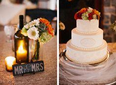 Raffaldini Winery Wedding // Nichelle + Chris Satterfield | Blest Photography Elegant ivory lace monogrammed cake