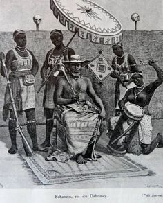 Behanzin,The Last King of Dahomey.Frontpage of French newspaper Le Petit Journal. African Culture, African American History, Albert Eckhout, Dahomey Amazons, African Royalty, Black History Facts, African Tribes, Modern Warfare, Women In History