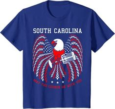 Amazon.com: May The Course Be With You South Carolina Disc Golf Eagle T-Shirt: Clothing Onesies, Boys, Shopping, Clothes, Children, Gifts For Golfers, Golf Gifts, Disc Golf Basket, Sports Training
