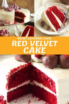 Cake Recipes From Scratch, Easy Cake Recipes, Baking Recipes, Best Red Velvet Cake Recipe From Scratch, Red Velvet Desserts, Homemade Red Velvet Cake, Easy Red Velvet Cake, Red Velvet Recipes, Red Velvet Cheesecake