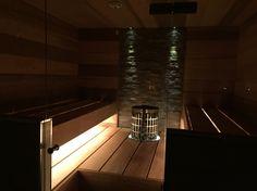 Finnish sauna with smooth lightning