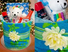 Boys beach towel gift set