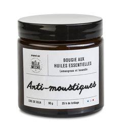 Bougie aux huiles essentielles Cire 100% végétale. Mèche coton. www.labellemeche.com