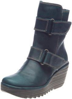 Amazon.com: FLY London Women's Yaki Pull-On Boot: Shoes Fly Shoes, Cute Shoes, Me Too Shoes, Women's Boots, High Heel Boots, Shoe Boots, High Heels, Walking Gear, Shoe Wall