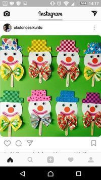 This Pin was discovered by Adr Clown Crafts, Circus Crafts, Carnival Crafts, Toilet Paper Roll Crafts, Paper Crafts, Diy For Kids, Crafts For Kids, Diy And Crafts, Arts And Crafts