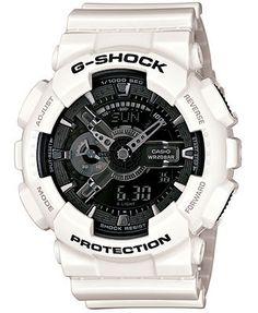 G-Shock Garish Trending Series Men's Luxury Watch - White / One Size. For 25 years G-Shock G-Shock digital watches are the ultimate tough watch. Providing durable, waterproof mens digital watches for every activity. G-Shock is the ultimate tough wa Casio Protrek, Casio G Shock Watches, Timex Watches, Sport Watches, Wrist Watches, Analog Watches, Men's Watches, Jewelry Watches, Gold Watches