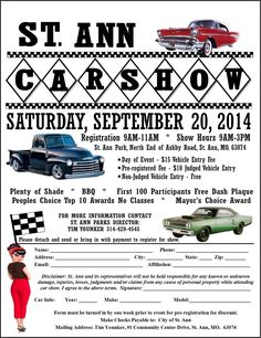 Find More Events At CarshowhqCom Carshow  Car Show Flyers