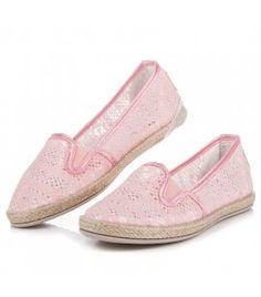 Balada Lace Espadrilles Slip On pink Women's Espadrilles, Espadrille Shoes, Types Of Heels, Pink Lace, Spring Summer Fashion, Slip On, Sneakers, Tennis, Slippers