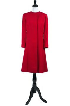 Dressing Vintage - Vintage Red Dress Matching Coat Suit Green Lining Holidays 1950s 1960s, $525.00 (http://dressingvintage.com/vintage-red-dress-matching-coat-suit-green-lining-holidays-1950s-1960s/)