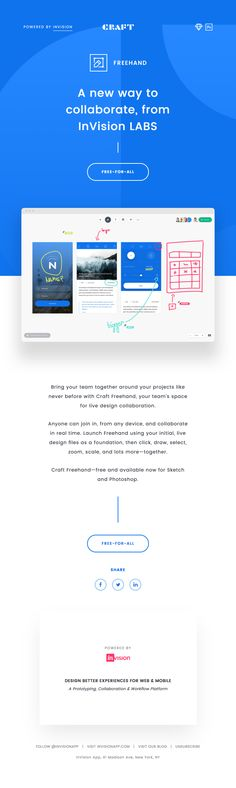 A new way to collaborate, from InVision LABS - Really Good Emails