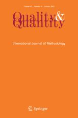 Quality and Quantity constitutes a point of reference for European and non-European scholars to discuss instruments of methodology for more rigorous scientific results in the social sciences. The journal publishes papers on models ...