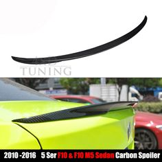 92.88$  Buy now - http://alipaq.worldwells.pw/go.php?t=32720421374 - Performance Style for BMW 5 Series F10 & F10 M5 Carbon Fiber Rear Wing Spoiler 2010 2011 2012 2013 2014 2015 2016 92.88$