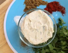 Savory Greek Yogurt Dip: There are options beyond mayo and sour cream-based dips. Or use on burgers ... or to tame buffalo wing heat.