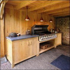bu_keuken03 Outdoor Kitchen Bars, Outdoor Kitchens, Outdoor Grill Station, Backyard, Patio, Barbecue, Liquor Cabinet, Garden Ideas, Pergola