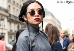 Street Style portraits by Ángel Robles. Fashion Photography from Paris Fashion Week.