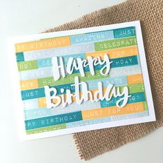 Masculine Happy Birthday Card using SSS Painted Happy Birthday die #SSSFAVE