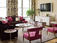 20 Pink Accent Chairs in the Living Room