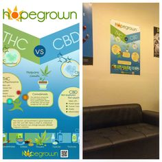 Education is paramount to us and we are finding so many ways to reach new patients. We have now started producing our own line of #infographics and you will begin to see them not only in social media posts but hanging as posters on walls as well. Be on the lookout! Our first infographic/poster covers the basic differences between THC & CBD. Let us know what you think!