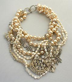 pearls & rhinestones.