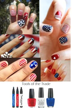4th of july #manicure