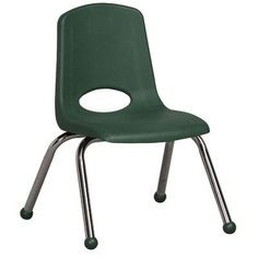 "ECR4Kids Plastic Classroom Chair (Set of 6) Foot Type: Ball Glide, Seat Height: 14"", Seat Color: Burgundy"