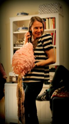 pink piñata  Tinza's Tiddley-Bits: {flat warming party}
