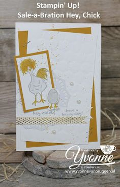 Yvonne is Stampin' & Scrapping: Stampin' Up! Hey Chick card #stampinup