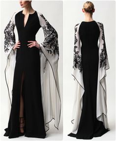 Evening Dresses 2017 New Design A-line White And Black V-Neck Sleeveless Backless Tea-length Sashes Party Eveing Dress Prom Dresses 2017 High Quality Dress Fuchsi China Dress Up Plain Dres Cheap Dresses Georgette Online Beautiful Gowns, Beautiful Outfits, Fashion Clothes, Fashion Dresses, Denim Dresses, Fashion Coat, Fashion Tv, Fashion Images, Ladies Fashion