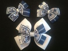 Football season is right around the corner :) I made these DC bows for a couple friends of mine ❤ #tinabowbinasbowtique