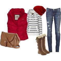 red-and-denim-outfit