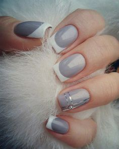 60 Nail Art Ideas To Make You Look Trendy And Stylish Trendy Nail Art, Stylish Nails, Cool Nail Art, White Tip Nails, French Tip Nails, Fabulous Nails, Gorgeous Nails, Shellac, Gel Nails