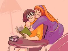Catchi Makes • They're girlfriends! 90 Anime, Cartoon As Anime, Cute Cartoon, Daphne And Velma, Daphne Blake, Redhead Cartoon Characters, Different Drawing Styles, Aarmau Fanart, Scooby Doo Mystery Incorporated