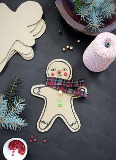 Mer Mag: DIY Cardboard Gingerbread Men