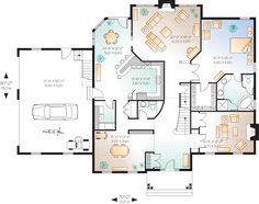 house plan chp 14624 at coolhouseplanscom floor plans onlinehome - Floor Plans Online