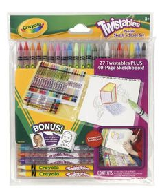 help me find creative ways to occupy my childrens time provide kids creative experiences for gifting occasions set includes 27 twistable colored pencils - Crayola Write Start Colored Pencils