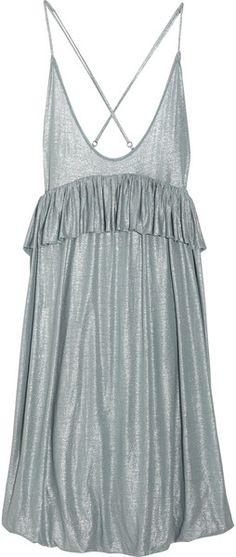 Serin Metallic Jersey Dress