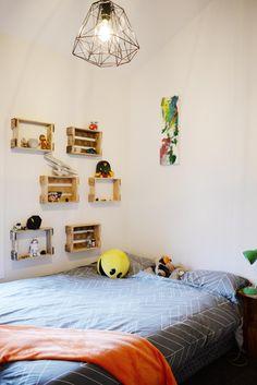 kids room, loft, wall decals, eco living, build me, building nz
