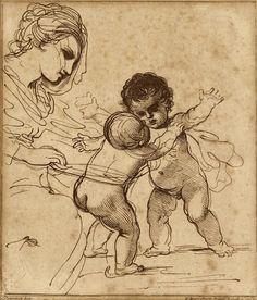 FRANCESCO BARTOLOZZI (1727-1815), LADY AND CHILDRENS