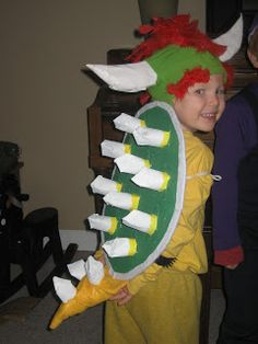 Tales of an EarthMama How to make a Bowser costume  sc 1 st  Pinterest & Coolest Homemade Bowser Jr. Costume | Costumes | Pinterest | Mario ...