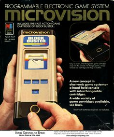 Milton-Bradley Microvision Console...I remember fighting over this with my brother.  It was dads!  BOWLING was the best!