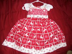Custom Holiday Dress with Peasant Top by KHess14265 on Etsy, $35.00