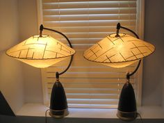 Vintage 50's Retro Lamp Space Age Hanging Shades RARE and Unique