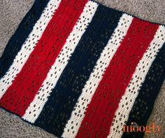 Patriotic Crochet Baby Blanket