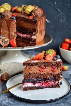 Desserts Menu, Cookie Desserts, Dessert Recipes, Lemon Cheesecake Recipes, Chocolate Cheesecake Recipes, Decadent Cakes, Sweet Pastries, Dessert Decoration, Polish Recipes