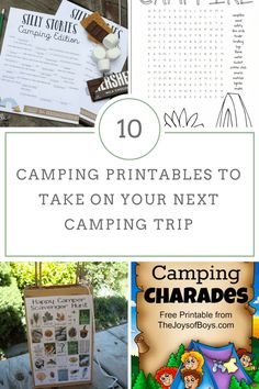 10 Camping Printables to Take On Your Next Camping Trip via Merry120