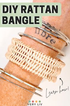 If you love rattan everything (and who could blame you, it's an amazing material), you'll probably be as delighted as me to find out you can make your own DIY rattan bangle! Find more DIY & Craft ideas on Very Liv!