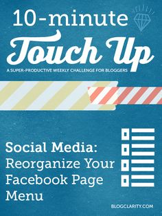 Organize Your Facebook Page- it's easy!