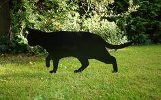 Garden Prowling Cat from Metal  ;-) by  Jolyon_Yates via DaWanda