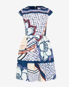 Africa Tribal print skater dress - Lilac   Dresses   Ted Baker
